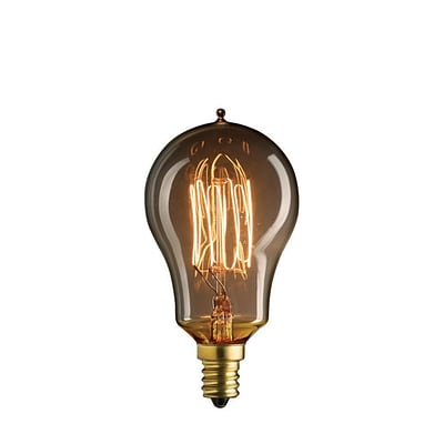Bulbrite Incandescent (INC) A15 25W Dimmable Nostalgic 2200K Antique Amber Light Bulb, 4 Pack (132515)