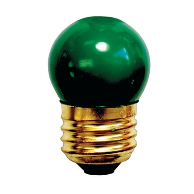 Bulbrite Incandescent (INC) S11 7.5W Dimmable Ceramic Green Light Bulb, 25 Pack (702407)