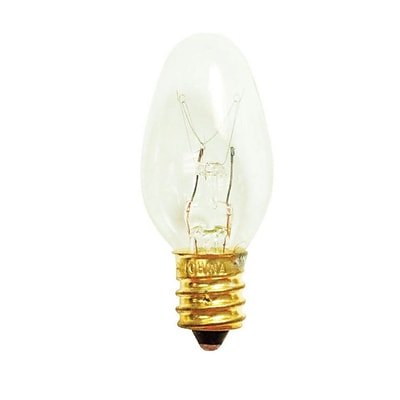 Bulbrite Incandescent (INC) C7 7W Dimmable Clear 2700K Warm White Light Bulb, 75 Pack (709107)