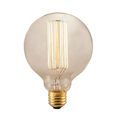 Bulbrite Incandescent (INC) G30 40W Dimmable 2200K Antique Amber Light Bulb, 4 Pack (342040)