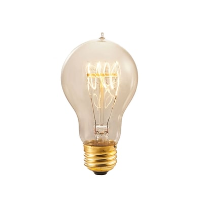 Bulbrite Incandescent (INC) A19 60W Dimmable Nostalgic 2200K Antique Amber Light Bulb, 4 Pack (136020)