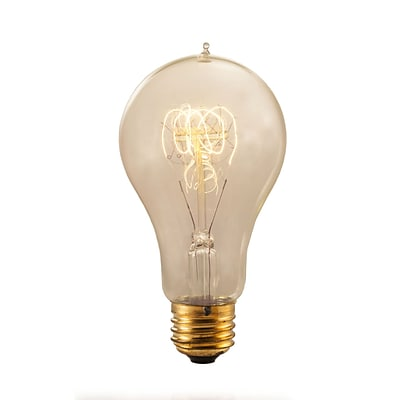 Bulbrite Incandescent (INC) A21 25W Dimmable Nostalgic 2200K Antique Amber Light Bulb, 4 Pack (132530)