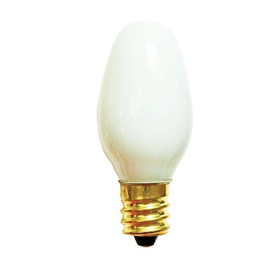 Bulbrite Incandescent (INC) C7 7W Dimmable 2700K Warm White Light Bulb, 75 Pack (709007)