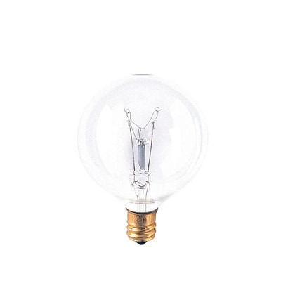Bulbrite Incandescent (INC) G16.5 25W Dimmable Clear 2700K Warm White Light Bulb, 40 Pack (391125)