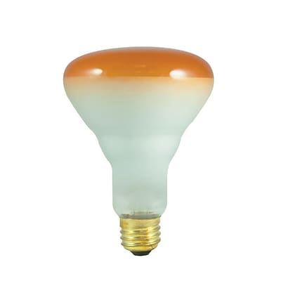 Bulbrite Incandescent (INC) BR30 75W Dimmable Amber Wide Flood Light Bulb, 8 Pack (242075)