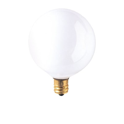 Bulbrite Incandescent (INC) G16.5 15W Dimmable 2700K Warm White Light Bulb, 40 Pack (391015)