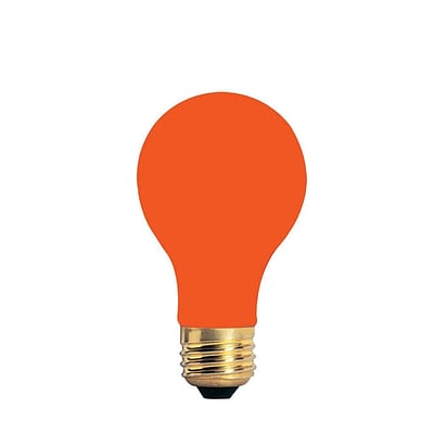 Bulbrite Incandescent (INC) A19 40W Dimmable Party Bulb Ceramic Orange Light Bulb, 18 Pack (106540)