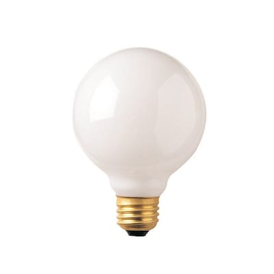 Bulbrite Incandescent (INC) G25 40W Dimmable 2700K Warm White Light Bulb, 24 Pack (330040)