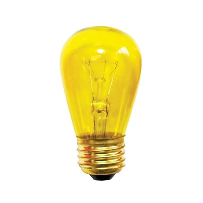 Bulbrite Incandescent (INC) S14 11W Dimmable Transparent Yellow Light Bulb, 25 Pack (701811)