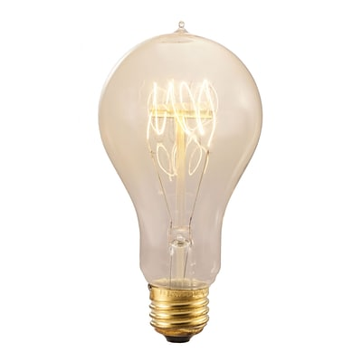 Bulbrite Incandescent (INC) A23 25W Dimmable Nostalgic 2200K Antique Amber Light Bulb, 4 Pack (132540)