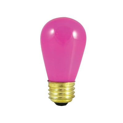 Bulbrite Incandescent (INC) S14 11W Dimmable Ceramic Pink Light Bulb, 25 Pack (701601)