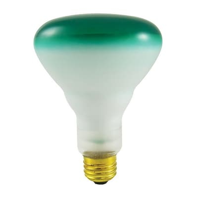 Bulbrite Incandescent (INC) BR30 75W Dimmable Green Wide Flood Light Bulb, 8 Pack (244075)