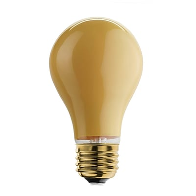 Bulbrite Incandescent (INC) A19 25W Dimmable Yellow Bug Light Bulb, 12 Pack (103025)