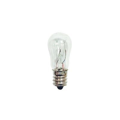 Bulbrite Incandescent (INC) S6 3W Dimmable Clear 2700K Warm White Light Bulb, 25 Pack (703003)
