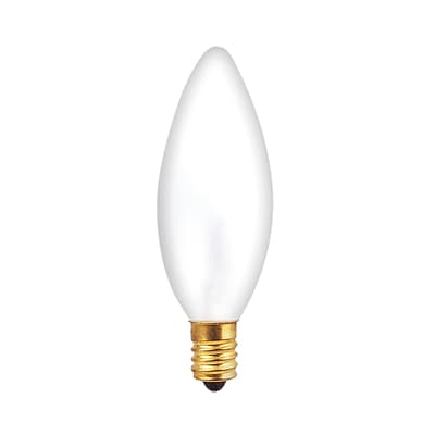 Bulbrite Incandescent (INC) B10 25W Dimmable Frost 2700K Warm White Light Bulb, 30 Pack (401425)