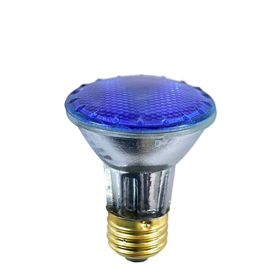 Bulbrite Halogen PAR20 50W Dimmable 2900K Blue Light Bulb, 4 Pack (683503)