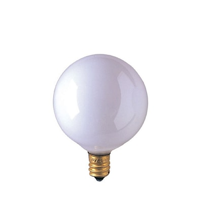 Bulbrite Incandescent (INC) G16.5 60W Dimmable 2700K Warm White Light Bulb, 40 Pack (391060)