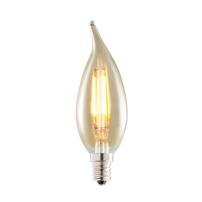 Bulbrite LED CA10 2.5W Dimmable 2200K Antique Amber Light Bulb, 4 Pack (776603)