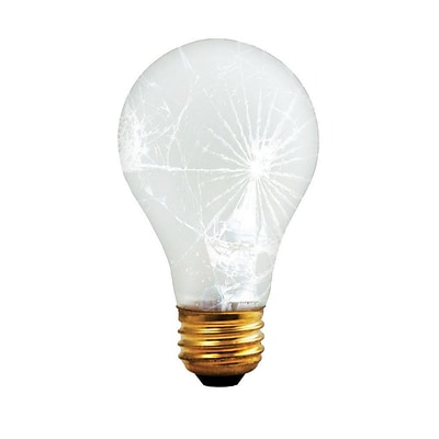 Bulbrite Incandescent (INC) A19 100W Dimmable Frost Tough Coat 2700K Warm White Light Bulb, 12 Pack (108100)