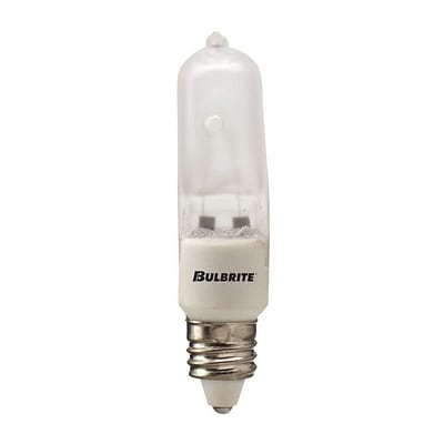 Bulbrite Halogen T4 35W Dimmable Frost 2900K Soft White Light Bulb, 5 Pack (610032)
