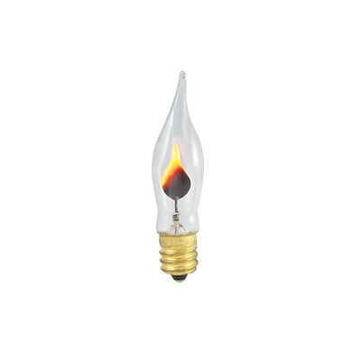 Bulbrite Incandescent (INC) CA5 3W Dimmable Flicker Flame Clear 2700K Warm White Light Bulb, 14 Pack (410303)