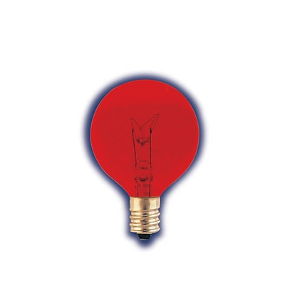 Bulbrite Incandescent (INC) G12 10W Dimmable Transparent Red Light Bulb, 25 Pack (306010)