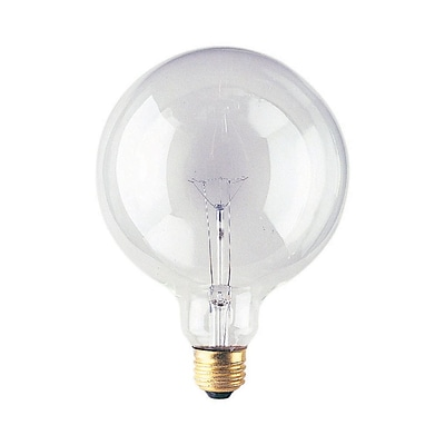 Bulbrite Incandescent (INC) G40 60W Dimmable Clear 2700K Warm White Light Bulb, 12 Pack (351060)