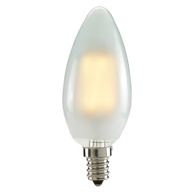 Bulbrite LED B11 2.5W Dimmable Frost 2700K Warm White Light Bulb, 4 Pack (776674)