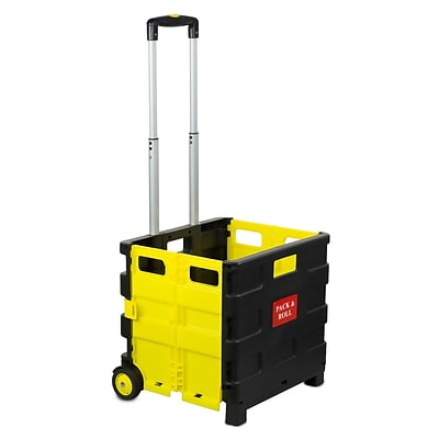 Mount-It! Rolling Utility Cart, Folding and Collapsible, 55 Lbs Capacity