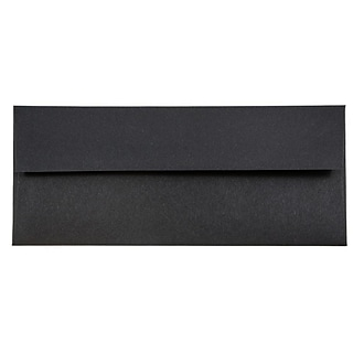 JAM Paper® #10 Business Envelopes, 4.125 x 9.5, Black Linen, 50/Pack (900921796I)