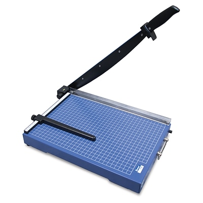 United T15 15.4 Office-Grade Guillotine Trimmer, 15 Sheet Capacity, Blue