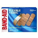 Band-Aid Brand Flexible Fabric Adhesive Bandages, All One Size, 100 Count (556241)