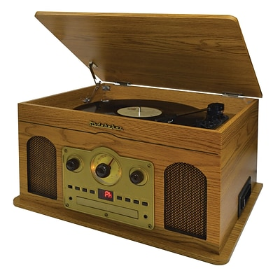 Studebaker Nostalgic Wooden Musc Center With Turntable, Cd Player, Am/Fm Radio And Cassette Player