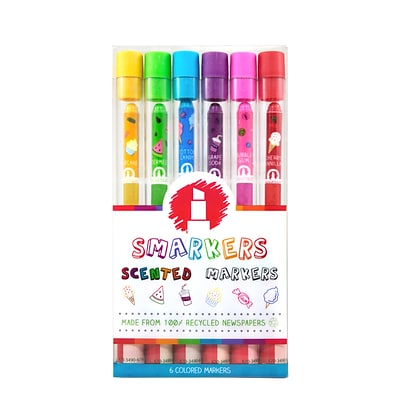 Smarkers 6-Pack of Scented Felt Tip Markers