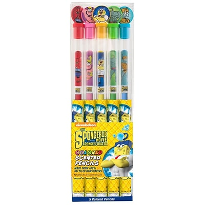 Spongebob Squarepants Colored Smencil 5-Pack - 2 Sets of Scented Colored Pencils