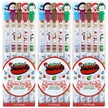 Holiday Smencil 5-Packs - 3 Sets of Scented Holiday Pencils