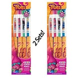 Dreamworks Trolls Colored Smencils 4-Packs - 2 Sets of Scented Colored Pencils
