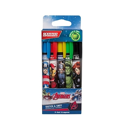 Marvels Avengers Scented Gel Core Crayons - 2 Sets