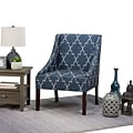 Simpli Home Hayworth Accent Chair in Cobalt Blue Patterned (AXCCHR-011)