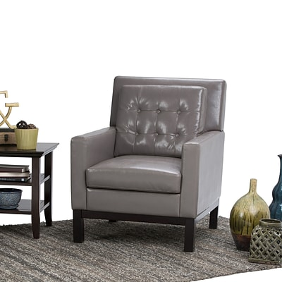 Simpli Home Carrigan Club Chair in Taupe (AXCCHR-013-TP)