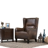 Simpli Home Taylor Wingback Chair in Distressed Brown (AXCCHR-019-DBR)