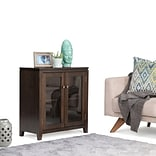 Simpli Home Cosmopolitan Low Storage Cabinet in Coffee Brown (AXCCOS-LO-CF)