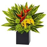 Nearly Natural Heliconia and Calla Arrangement (1490)