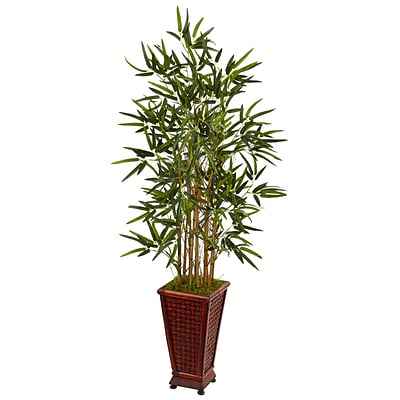 Nearly Natural 4.5' Bamboo Tree in Decorative Planter (5807)