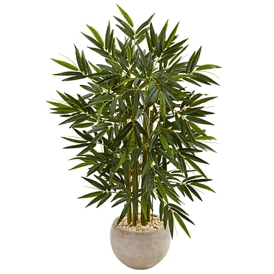 Nearly Natural 4' Bamboo Tree in Sand Colored Bowl (5824)