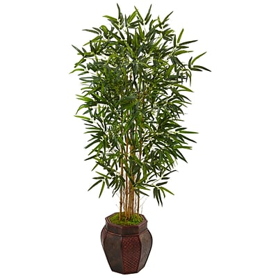 Nearly Natural 5' Bamboo Tree in Weave Design Planter (5825)