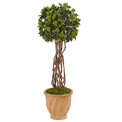 Nearly Natural 3' English Ivy Tree in Terracotta Pot UV Resistant (5848)
