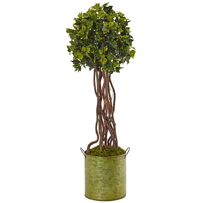 Nearly Natural 2.5' English Ivy Tree in Metal Planter UV Resistant (5851)