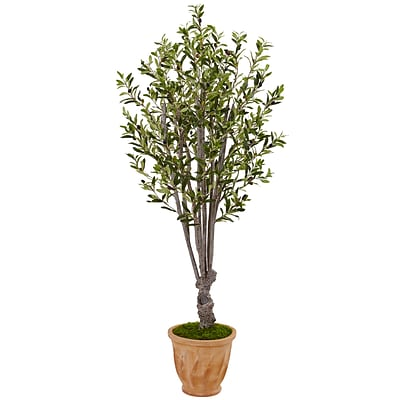 Nearly Natural 5' Olive Tree in Terracotta Planter (5853)