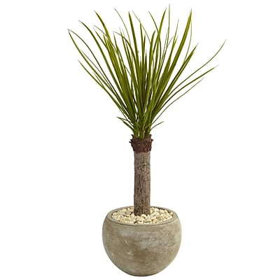 Nearly Natural 3.5'H Yucca Tree in Sand Colored Bowl (5974)